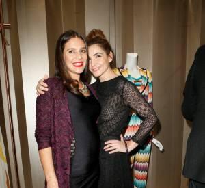 Margherita Maccapani Missoni et Clotilde Couraulors du cocktail organisé pour l'ouverture de la nouvelle boutique Missoni à Paris le 27 janvier 2015.
