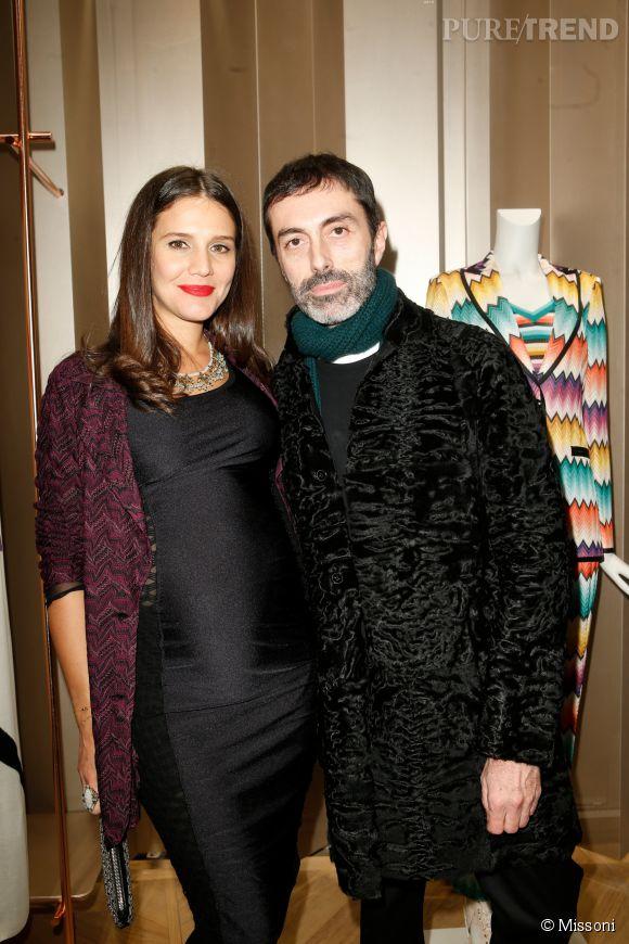 Margherita Maccapani Missoni et Giambattista Vallilors du cocktail organisé pour l'ouverture de la nouvelle boutique Missoni à Paris le 27 janvier 2015.