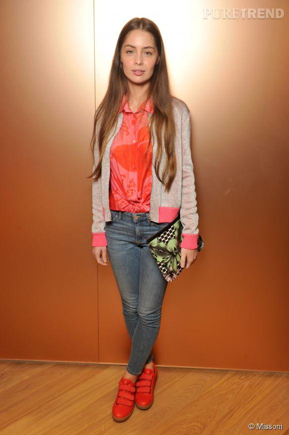 Marie-Ange Casta lors du cocktail organisé pour l'ouverture de la nouvelle boutique Missoni à Paris le 27 janvier 2015.