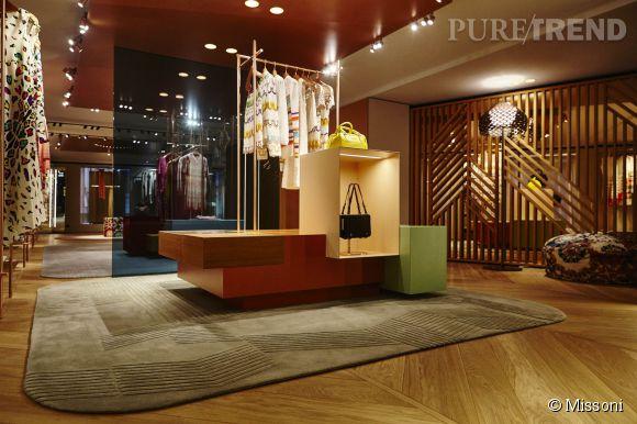La nouvelle boutique Missoni à Paris au 219 rue Saint Honoré.