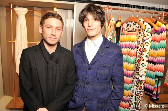 Ora Ito et Jeremy Kapone lors du cocktail organisé pour l'ouverture de la nouvelle boutique Missoni à Paris le 27 janvier 2015.