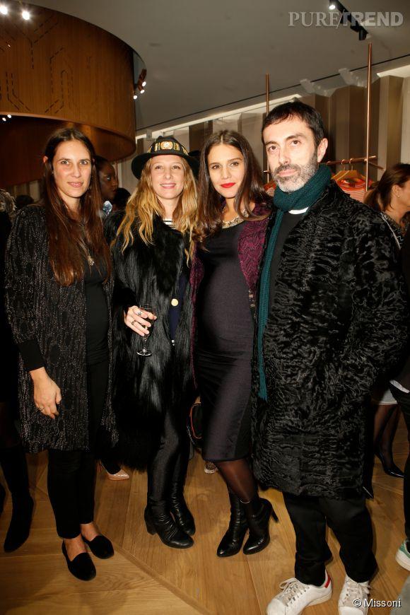 Tatiana Santo Domingo, Cecilia Bonstrom, Margherita Maccapani Missoni et Giambattista Valli lors du cocktail organisé pour l'ouverture de la nouvelle boutique Missoni à Paris le 27 janvier 2015.