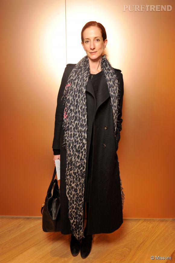 Vanessa Friedman lors du cocktail organisé pour l'ouverture de la nouvelle boutique Missoni à Paris le 27 janvier 2015.