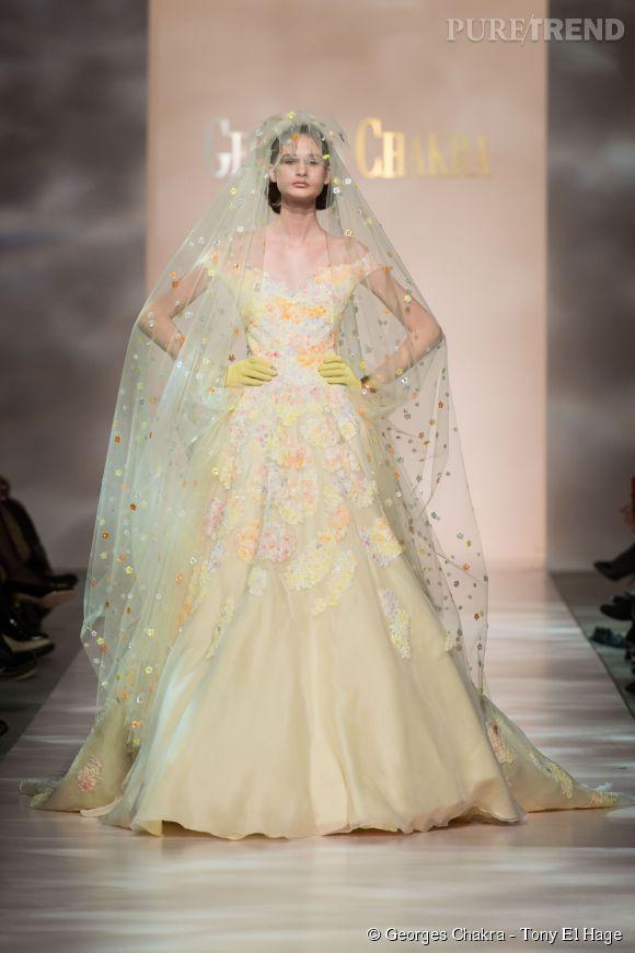 Silhouette Georges Chakra Printemps-Été 2015 Haute Couture.
