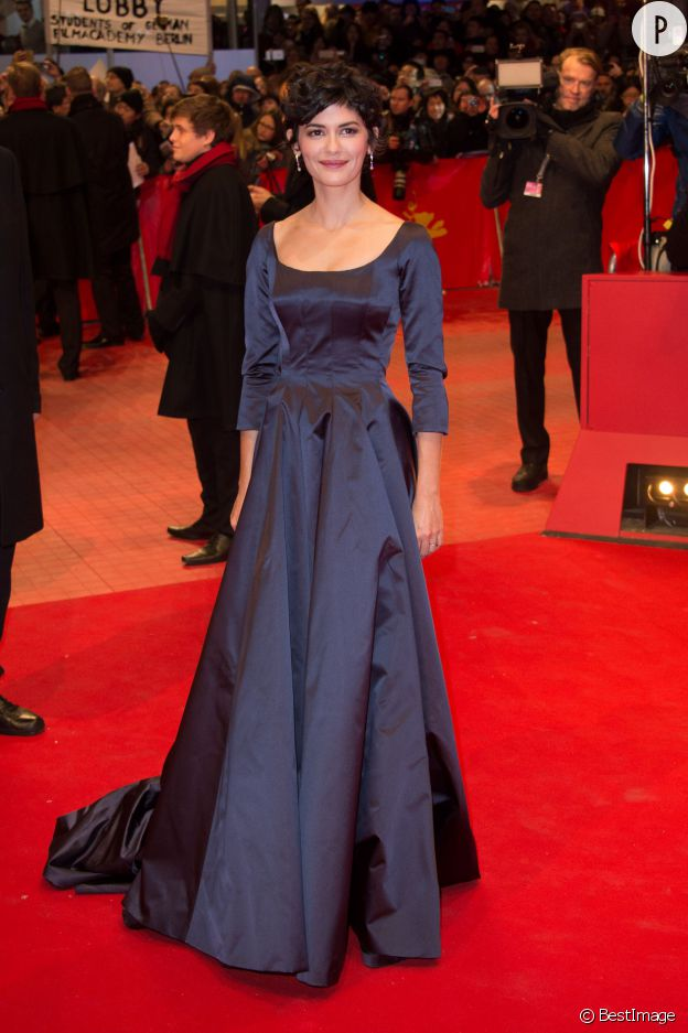 "Sexy mais distinguée, Audrey Tautou à la première du film ""Nobody Wants the Night"" à l'occasion de l'ouverture du 65ème Festival International du film de Berlin le 5 février 2015."