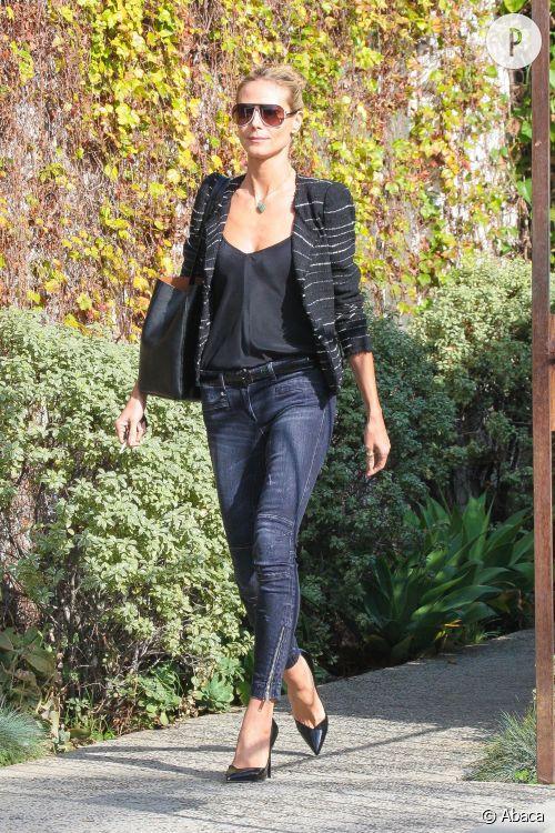 Heidi Klum dans les rues de Los Angeles le 5 février 2015.