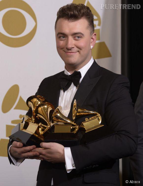 Sam Smith avec quatre trophées en poche, le chanteur britannique est le grand gagnant des Grammy Awards 2015 !