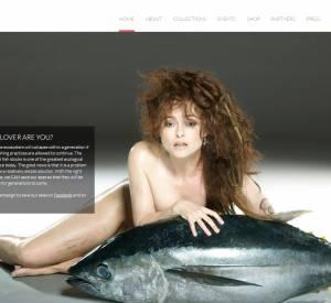 Helena Bonham Carter, nue en page d'acceuil du site Fishlove.