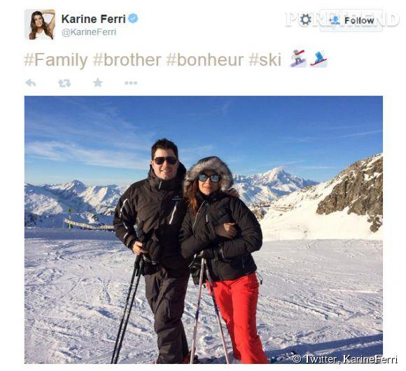 Karie Ferri profite de quelques jours sur les pistes avec son frère David.