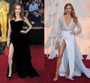 Angelina Jolie vs Chrissy Teigen : le jeu de jambe sexy des Oscars