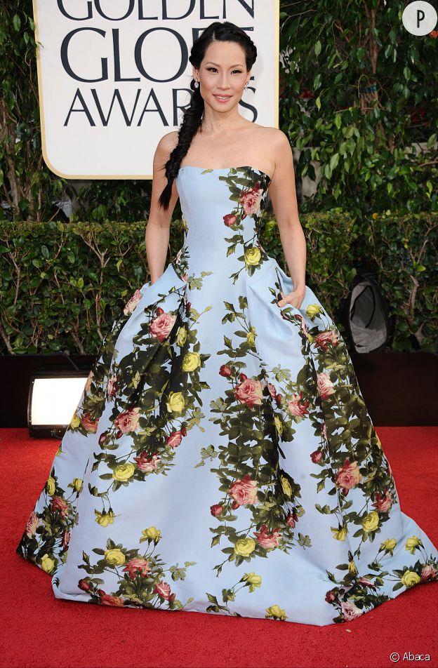 Lucy Liu, Golden Globes 2013.
