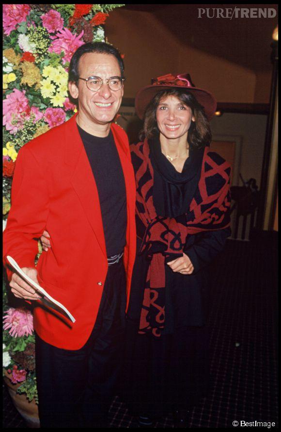 Michel Fugain et sa femme Stéphanie en 1991.