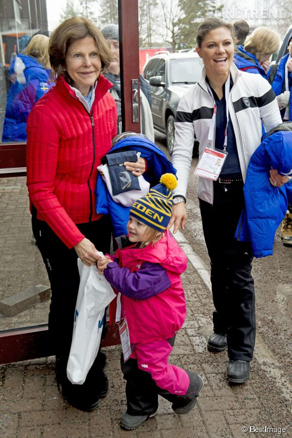 Trois générations de têtes couronnées suédoises aux Mondiaux de ski.