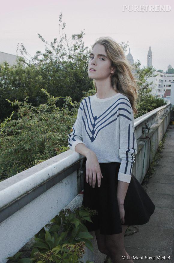 Le Mont Saint Michel et Leslie David : la collab' mode de mars 2015.