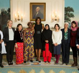 Michelle Obama, First Lady chic et engagée pour la journée de la femme