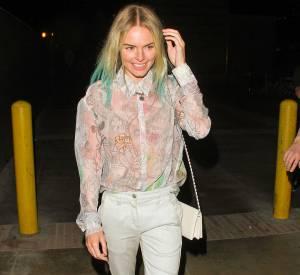 Le dip dye se décline également dans des couleurs délavées à l'image de la coiffure platine et vert d'eau de Kate Bosworth.