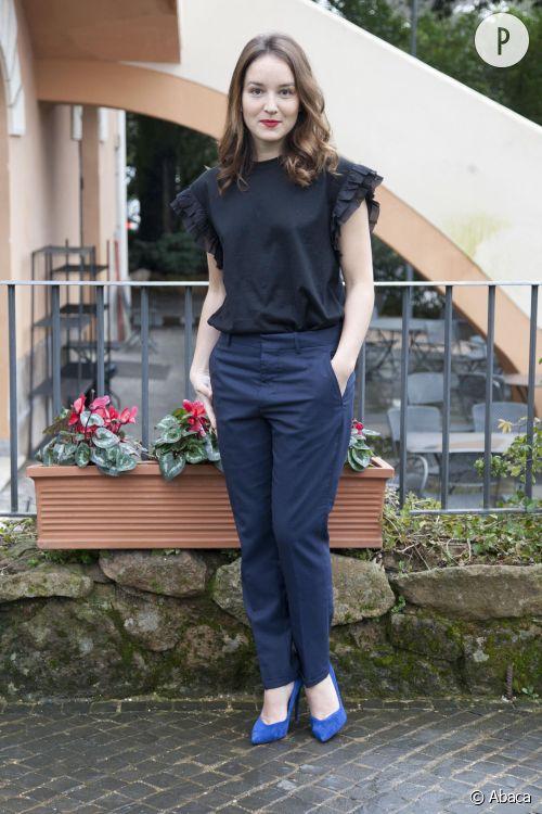 """Anaïs Demoustier mise sur un look chic et féminin lors de la promotion de """"Une Nouvelle Amie"""" à Rome le 17 mars 2015."""