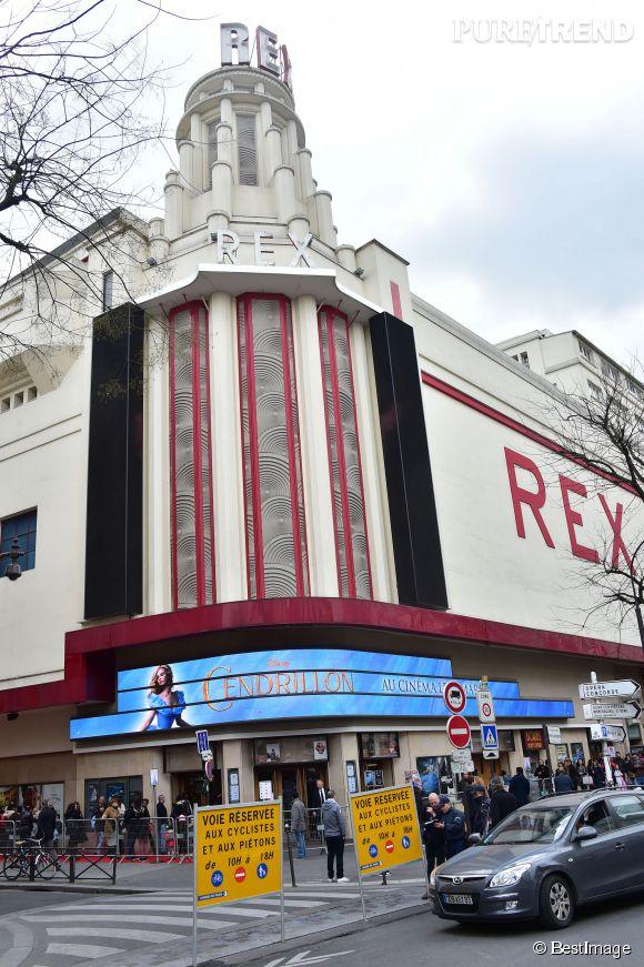 """Alessandra Sublet a assisté à l'avant-première de """"Cendrillon"""" au Grand Rex à Paris, le 22 mars 2015."""