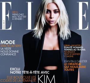 Kim Kardashian prend d'assaut la presse française et s'affiche sexy pour ELLE