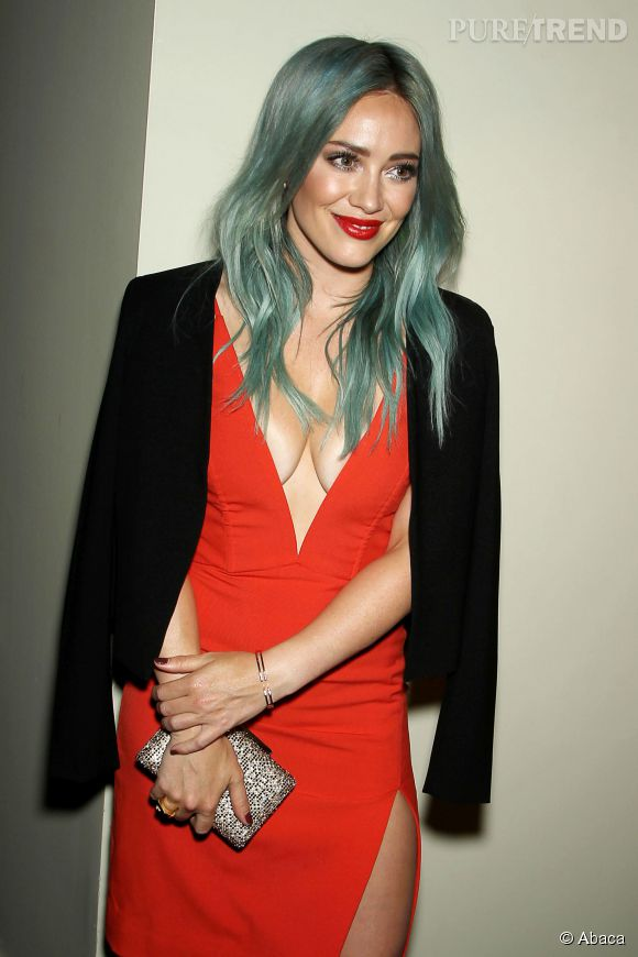 "Hilary Duff assure la promotion de sa nouvelle série ""Younger"" à New York le 31 mars 2015."