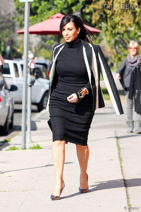 Kim avait à peut-être le même genre de look pendant sa grossesse.