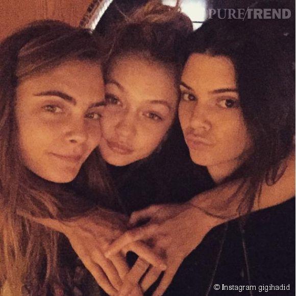 Gigi Hadid a réussi à intégrer le duo formé par Kendall Jenner et Cara Delevingne.