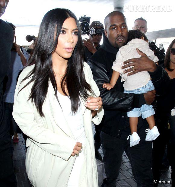 Kim Kardashian, belle brune aux cheveux longs le 7 avril 2015.
