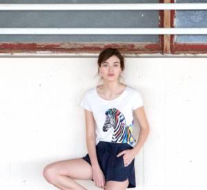 Sézane X G.Kero : le joli T-shirt zèbre du printemps 2015