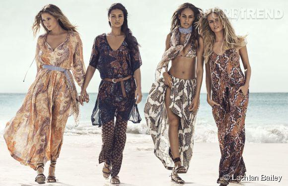 Joan Smalls, Natasha Poly, Doutzen Kroes, Adriana Lima : les amazones sexy de l'été 2015 d'H&M.