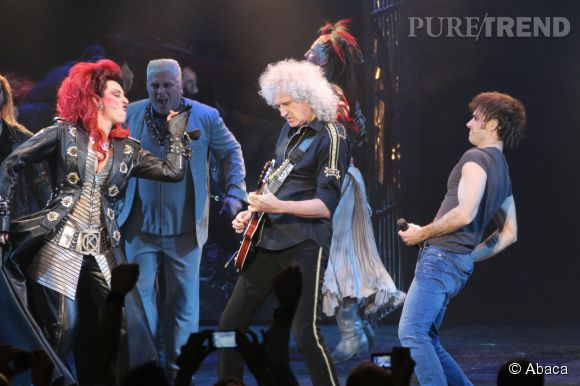 Brian May, une crinière toujours au top, plus de 40 ans après les débuts de Queen.