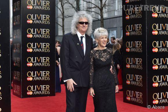 Brian May, le guitariste légendaire de Queen avec sa femme Anita Dobson.