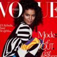 Liya Kebede en couverture du magazine  Vogue  Paris du mois de mai 2015.