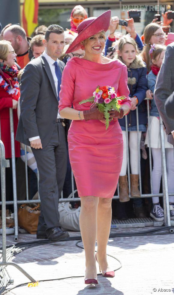 La reine Maxima des Pays-Bas lors du King's Day à Dordrecht le 27 avril 2015.