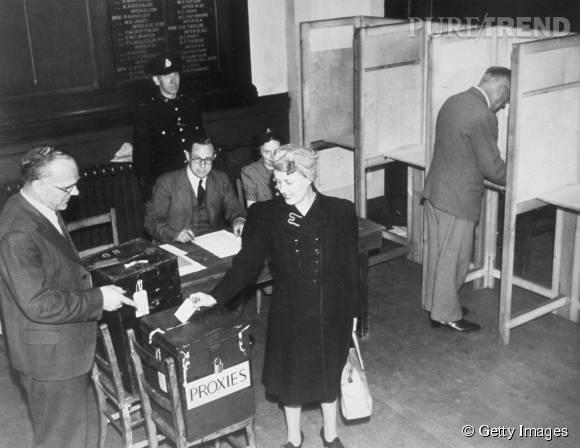 Le 29 avril 1945, les femmes votent pour la première fois.