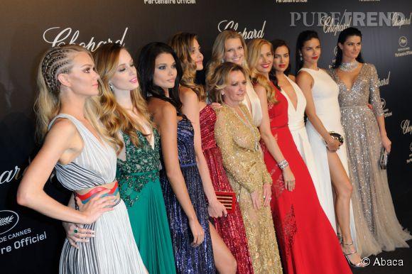 Pluie de tops et de diamants lors de la soirée Gold de Chopard à Cannes le 18 mai 2015.
