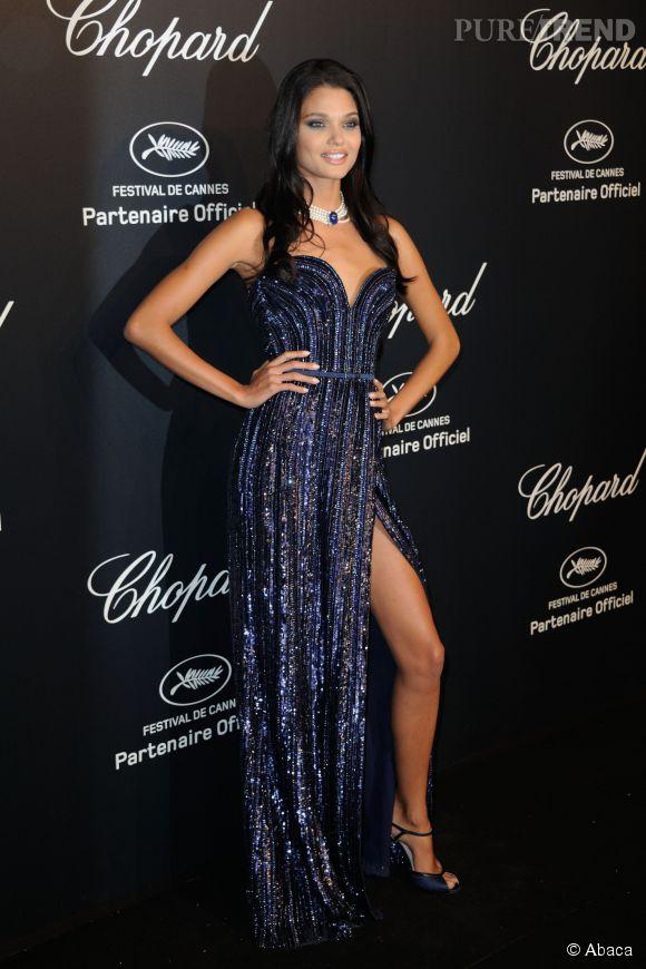 Daniela Braga lors de la soirée Gold de Chopard à Cannes le 18 mai 2015.