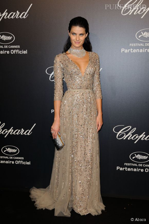 Isabeli Fontana lors de la soirée Gold de Chopard à Cannes le 18 mai 2015.