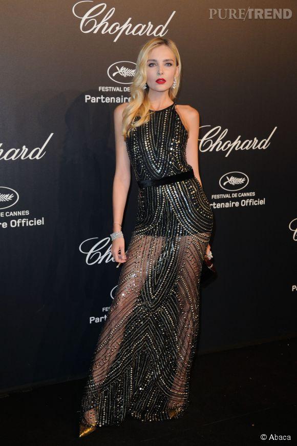 Snejana Onopka lors de la soirée Gold de Chopard à Cannes le 18 mai 2015.
