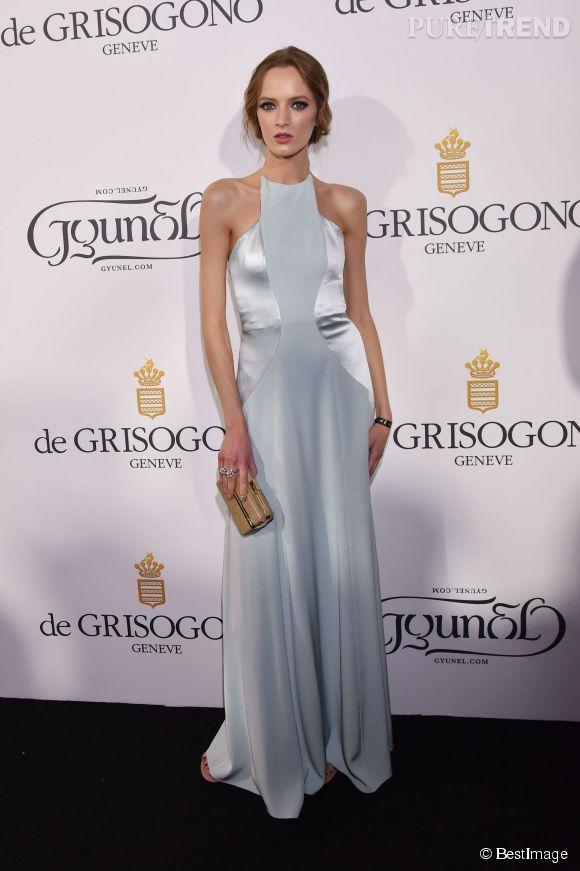 """Daria Strokous lors de la soirée """"Divine in Cannes"""" de Grisogono le 19 mai 2015 à Cannes."""