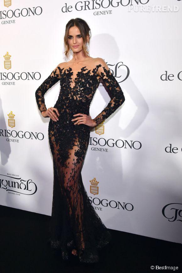 """Izabel Goulart en Zuhair Murad lors de la soirée """"Divine in Cannes"""" de Grisogono le 19 mai 2015 à Cannes."""
