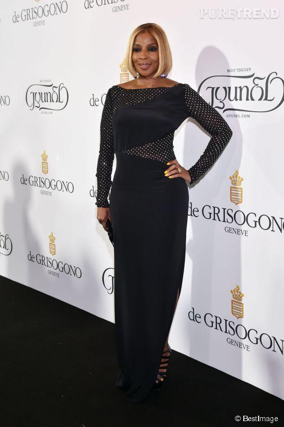 """Mary J. Blidge lors de la soirée """"Divine in Cannes"""" de Grisogono le 19 mai 2015 à Cannes."""