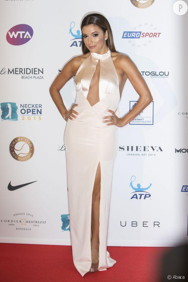 Eva Longoria ce mardi 19 mai 2015 à la soirée Game-set-Math Gala de la Champ'Seed Foundation.