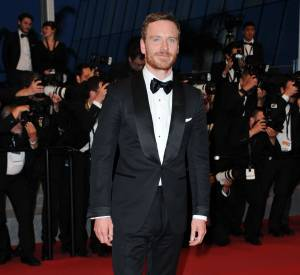 "Michael Fassbender à la sortie de la projection du film ""Macbeth"""