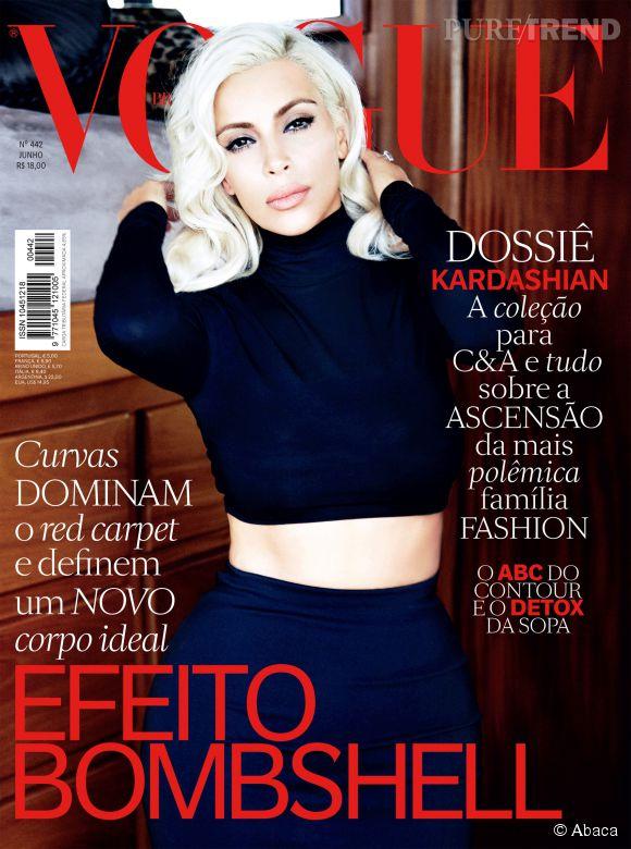 Kim Kardashian en une de Vogue Brasil.