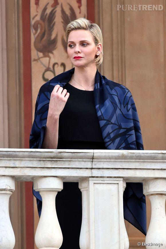 Charlène de Monaco a assisté à la messe depuis le balcon du palais.