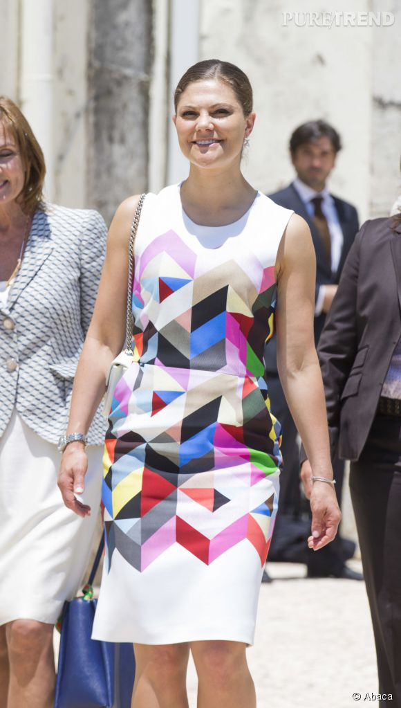 La princesse Victoria de Suède de passage à Lisbonne le 4 juin 2015.