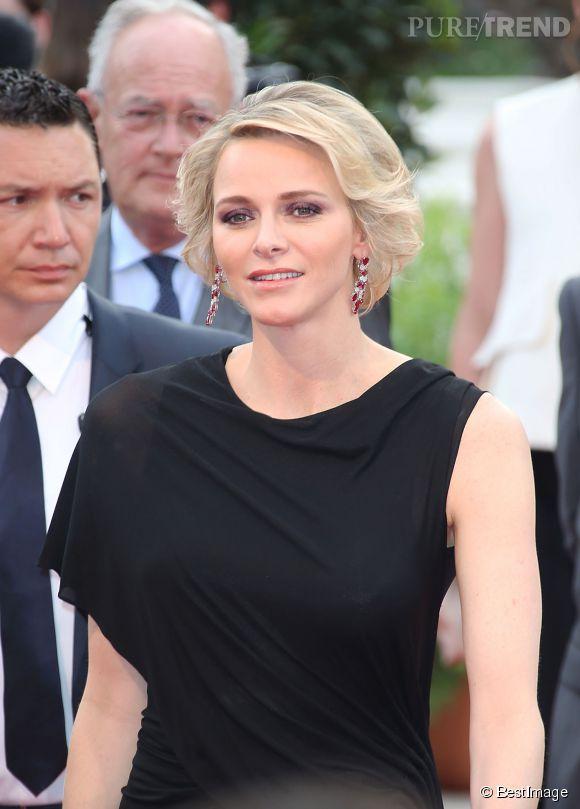 La princesse Charlène de Monaco à l'ouverture du Festival de la Télévision de Monte-Carlo le 13 juin 2015.