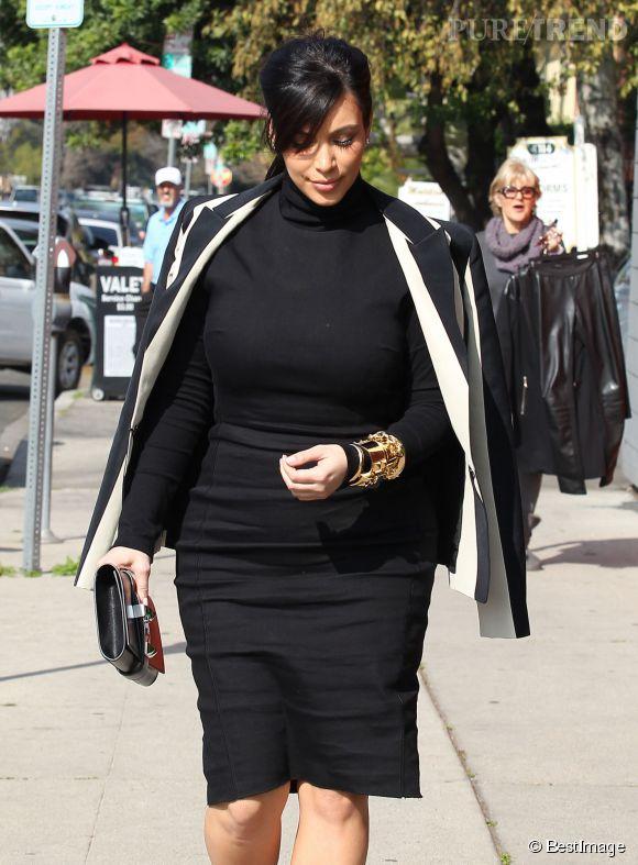 Kim Kardashian, ici enceinte de North en 2013.