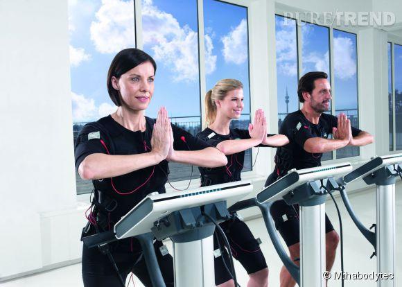 Avec Mihabodytec, une séance de sport de 20 minutes revient à faire 4 heures de sport traditionnel.
