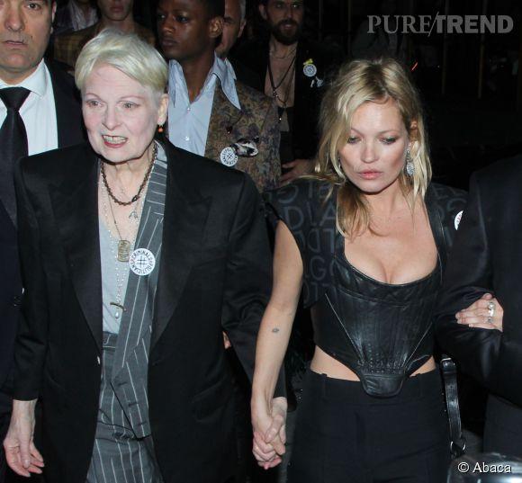 Kate Moss est venue accompagnée de la créatrice punk.